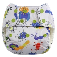 Blueberry One Size Simplex All-In-One Diaper w/ Organic Cotton - WITH STAY DRY