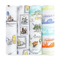 Aden + Anais Disney Baby Classic Muslin Swaddles - 4 pack  | FINAL SALE NO RETURNS