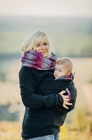 Lenny Lamb Fleece Babywearing Sweatshirts- Black with Little Herringbone Inspiration