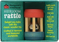 Heirloom Mini Bell Rattle by Maple Landmark Toys