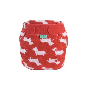 TotsBots Bamboozle Stretch Size 2 Bamboo Fleece Reusable Washable Nappy in Plop Design