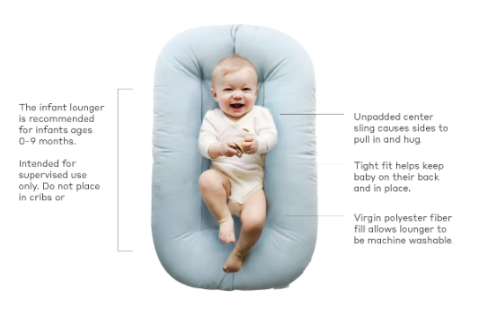 Slate Snuggle Me Organic Infant Lounger