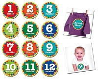 Sticky Bellies - Monthly Milestone Stickers Newborn - 12 months - FINAL CLEARANCE