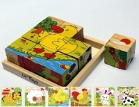Lil' Toyz - Cube Puzzle - Farm Animals