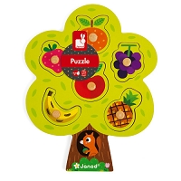 Wooden Peg Puzzle - 6 piece from Janod