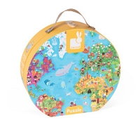 Janod Hat Box Puzzle - Giant World Map