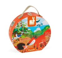 Janod Hat Box Puzzle - Forest
