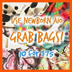Newborn AIO Grab Bags - 10 Diapers for $75 with Free Shipping in the US!