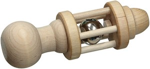 Standard Bell Rattle by Maple Landmark Toys