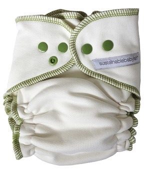 Sloomb Overnight Bamboo Fleece Fitted Diapers