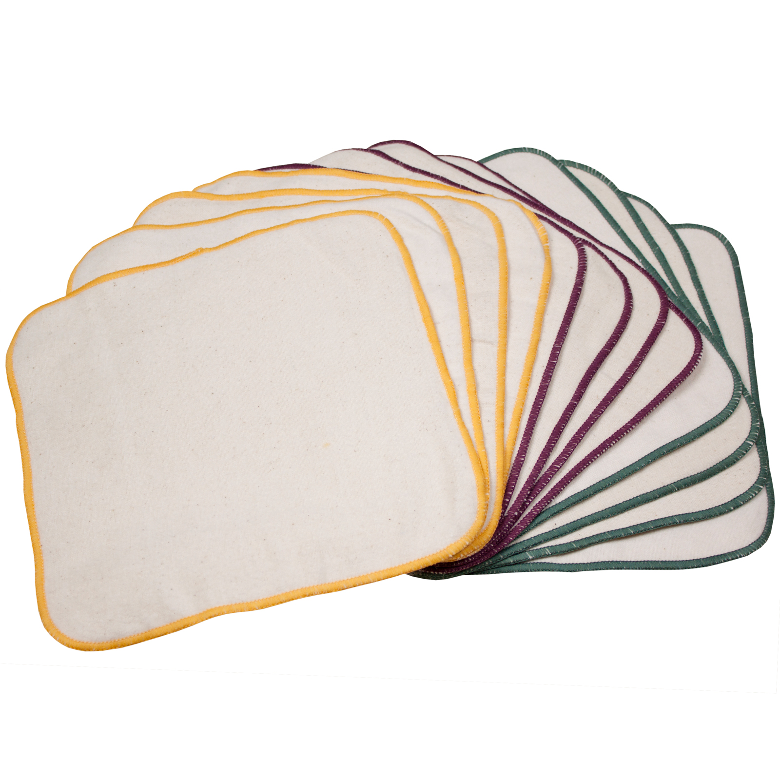 OsoCozy Terry Flannel Wipes - 12-pack