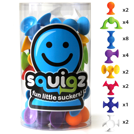 Squigz - 24 Piece Starter Set - by Fat Brain Toys