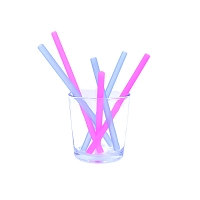 GoSili Siliskins Reusable Silicone Straws- Family Sizes 6 pack