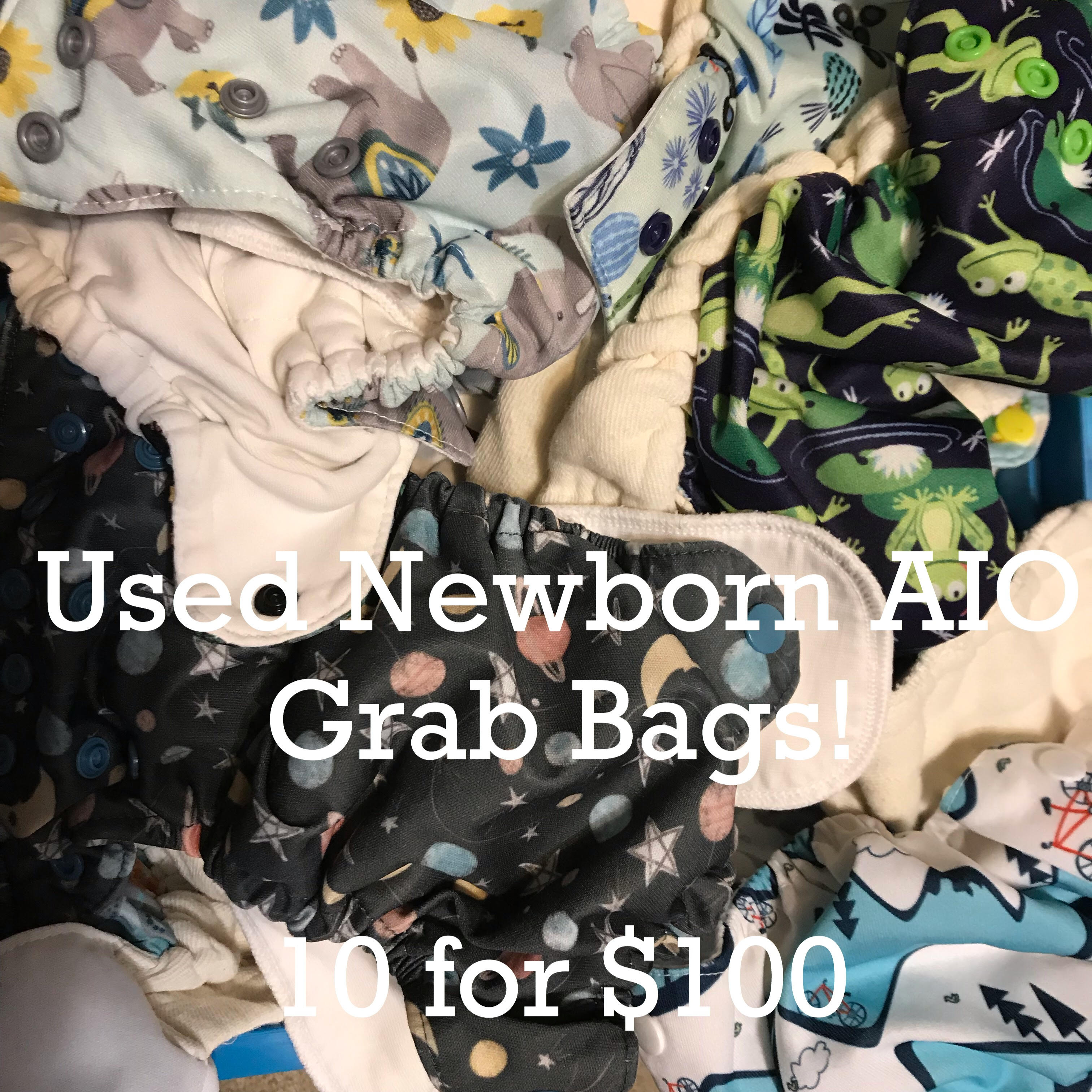 Newborn AIO Grab Bags - 10 Diapers for a great price!