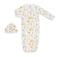 Magnetic Me Organic Cotton Magnetic Sack Gown & Hat Set