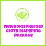 Newborn Prefold Cloth Diapering Package