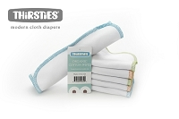 Thirsties Organic Cotton Wipes - 6 Pack