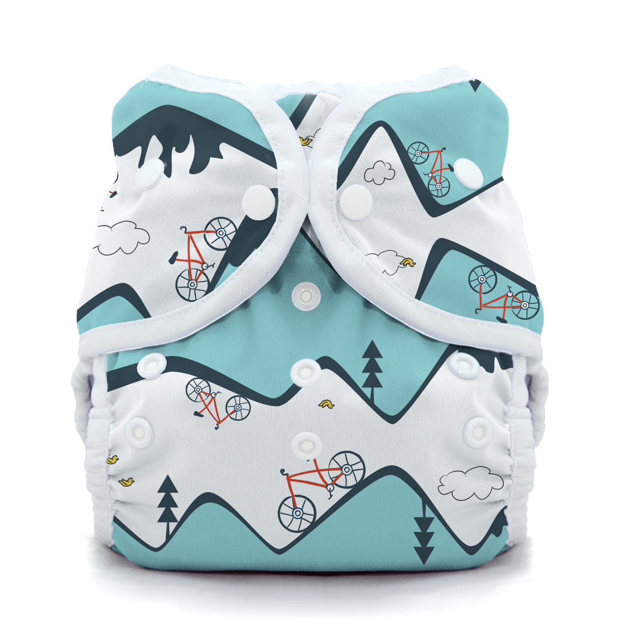 Snap Duo Wrap Outdoor Adventure Collection Birdie Size 1 Thirsties Package