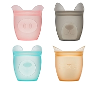 Zip Top Baby Snack Containers Set - 4 Pack